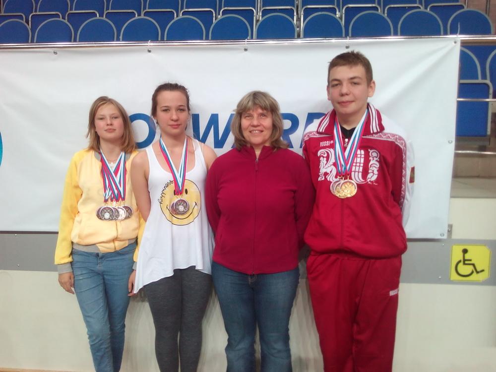 Стефания Лебедева, Надежда Беднякова, Марина Николаевна Сараева, Егор Давыдов (справа-налево)